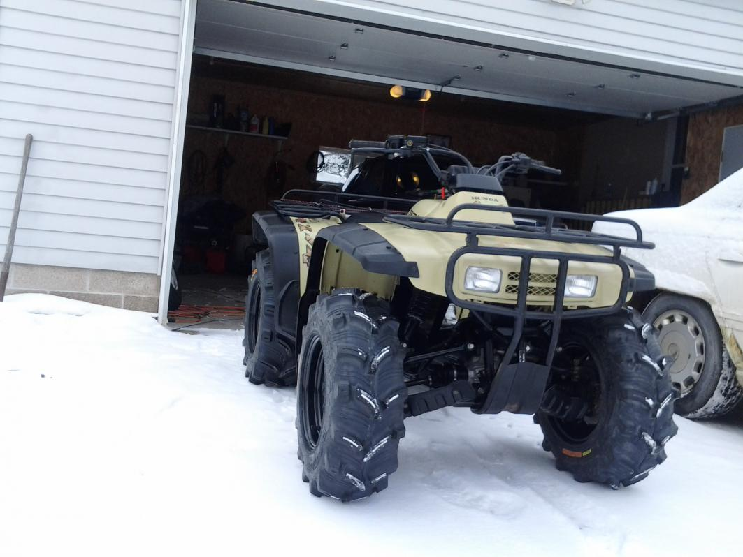 New Rims And Tires On The 300 Honda Atv Forum