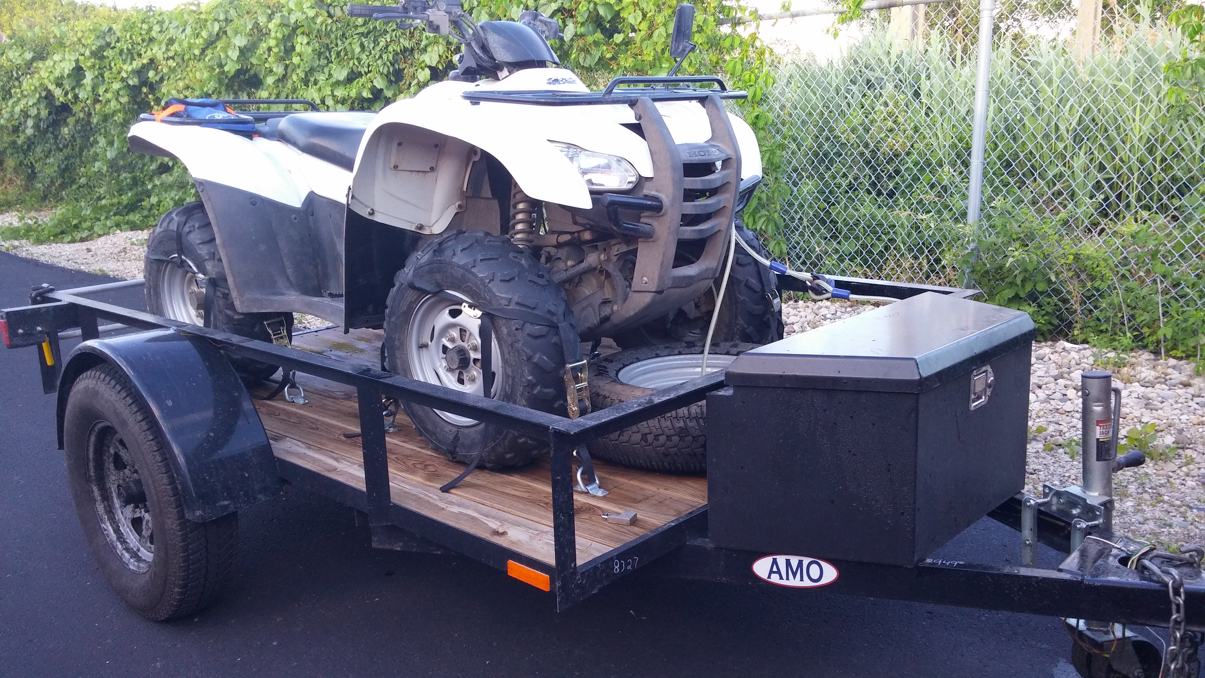 F/S: 2 Honda Rancher 420 4X4 + Utility Trailer and Ramps ...