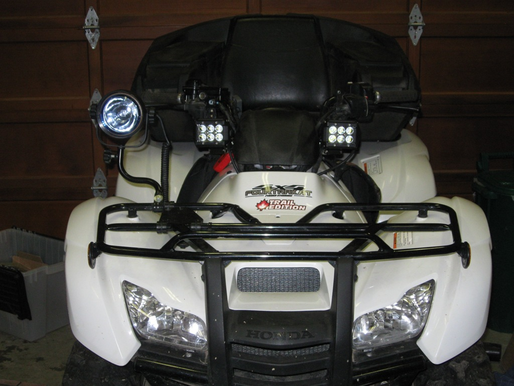 How To Wire Led Spotlights Honda Atv Forum Wiring Up Click Image For Larger Version Name 17410d1393389634 Cree Light Experiment Img 3766