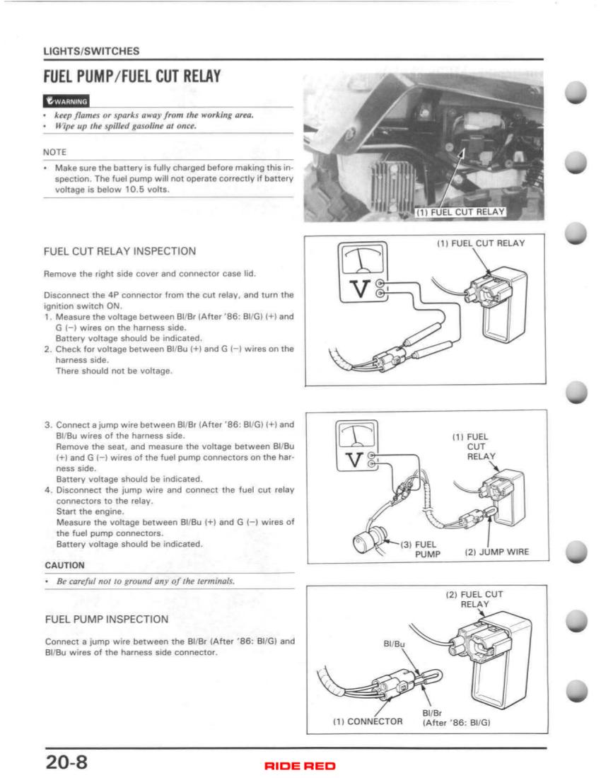 D Trx D No Spark Fourtrax Fuelcut on 1986 Honda Fourtrax 350 Wiring Diagram