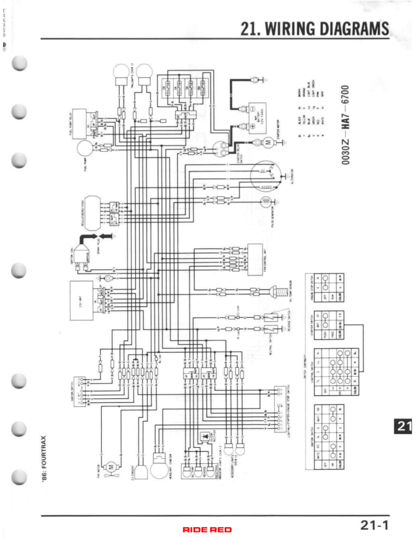 1986 trx 350d. no spark - honda atv forum 89 honda quad wiring diagram 89 honda civic fuse diagram