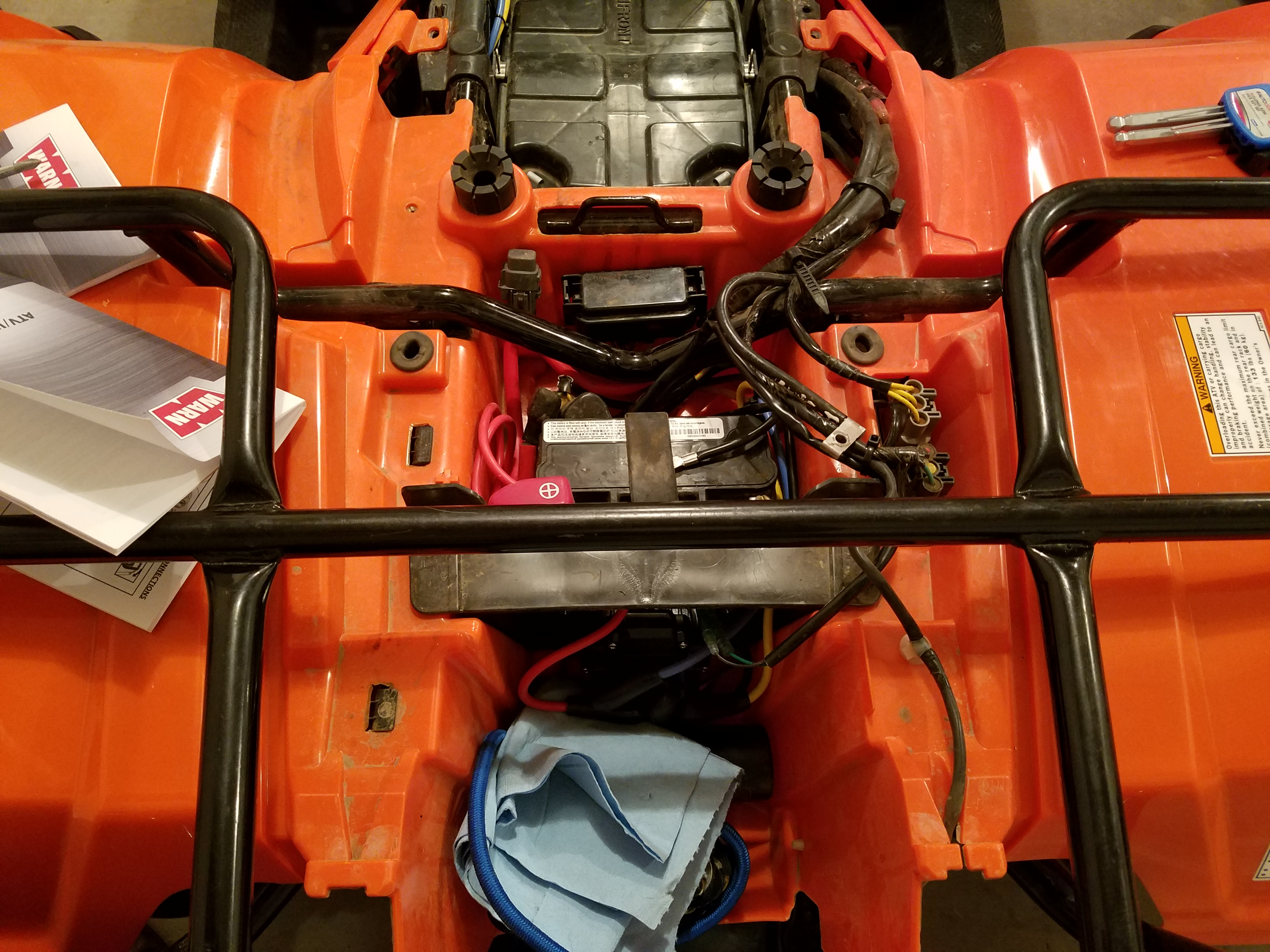 2015 Rancher Warm Winch And Snow Plow Install