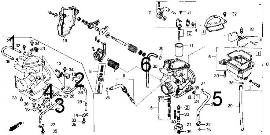 86 TRX 250 Fourtrax vacuum Diagram - Honda ATV Forum