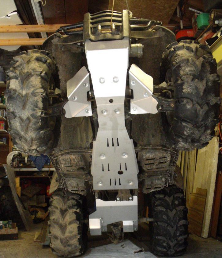 Honda ATV A Arm Guards Skid Plates Aluminum New