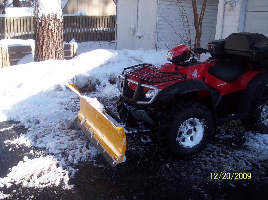 Tire Pressure For Snow Plowing This Winter Honda Atv Forum