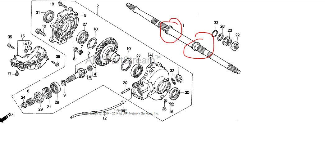 27 Honda Fourtrax 300 Rear End Diagram