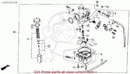 TRX200 ATV Carburetor  Honda ATV Forum