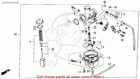 trx200 atv carburetor honda atv forum rh hondaatvforums net honda atc 200 carb diagram honda atc 110 carburetor diagram