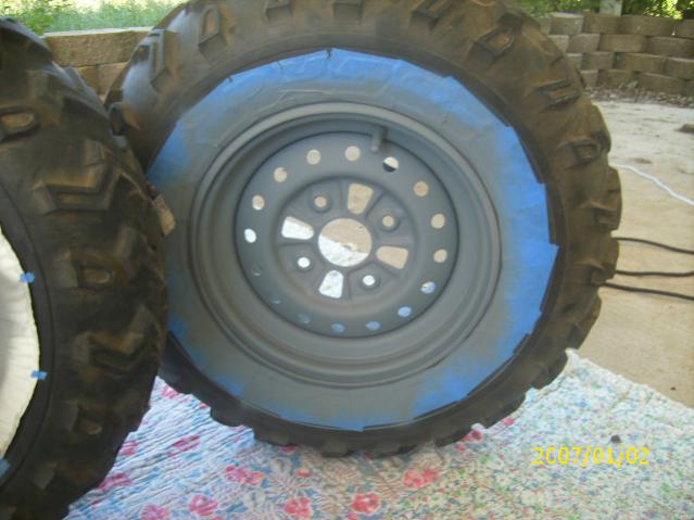 Painting Stock Rancher Rims Honda Atv Forum