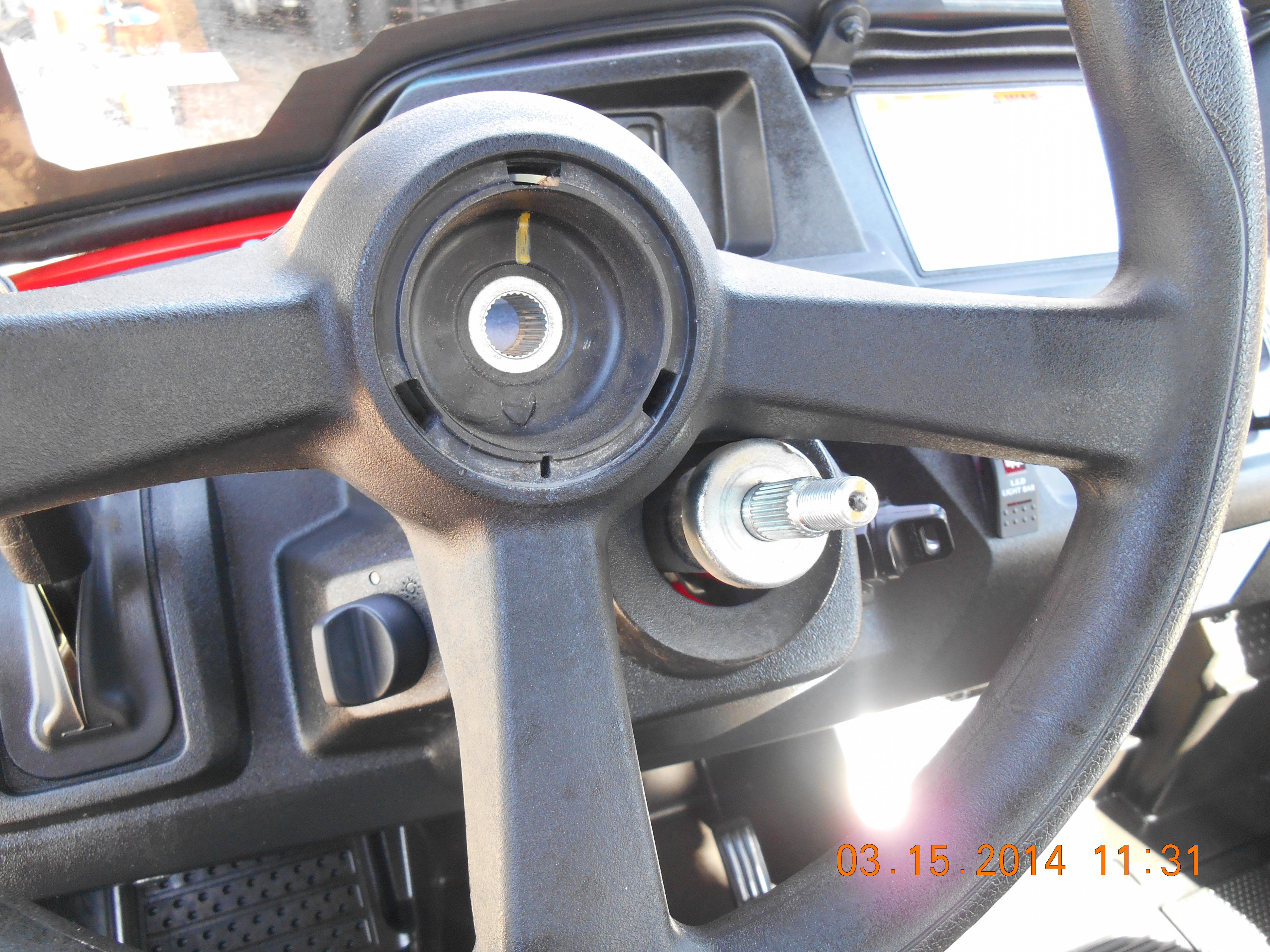 how to change your tractor steering wheel