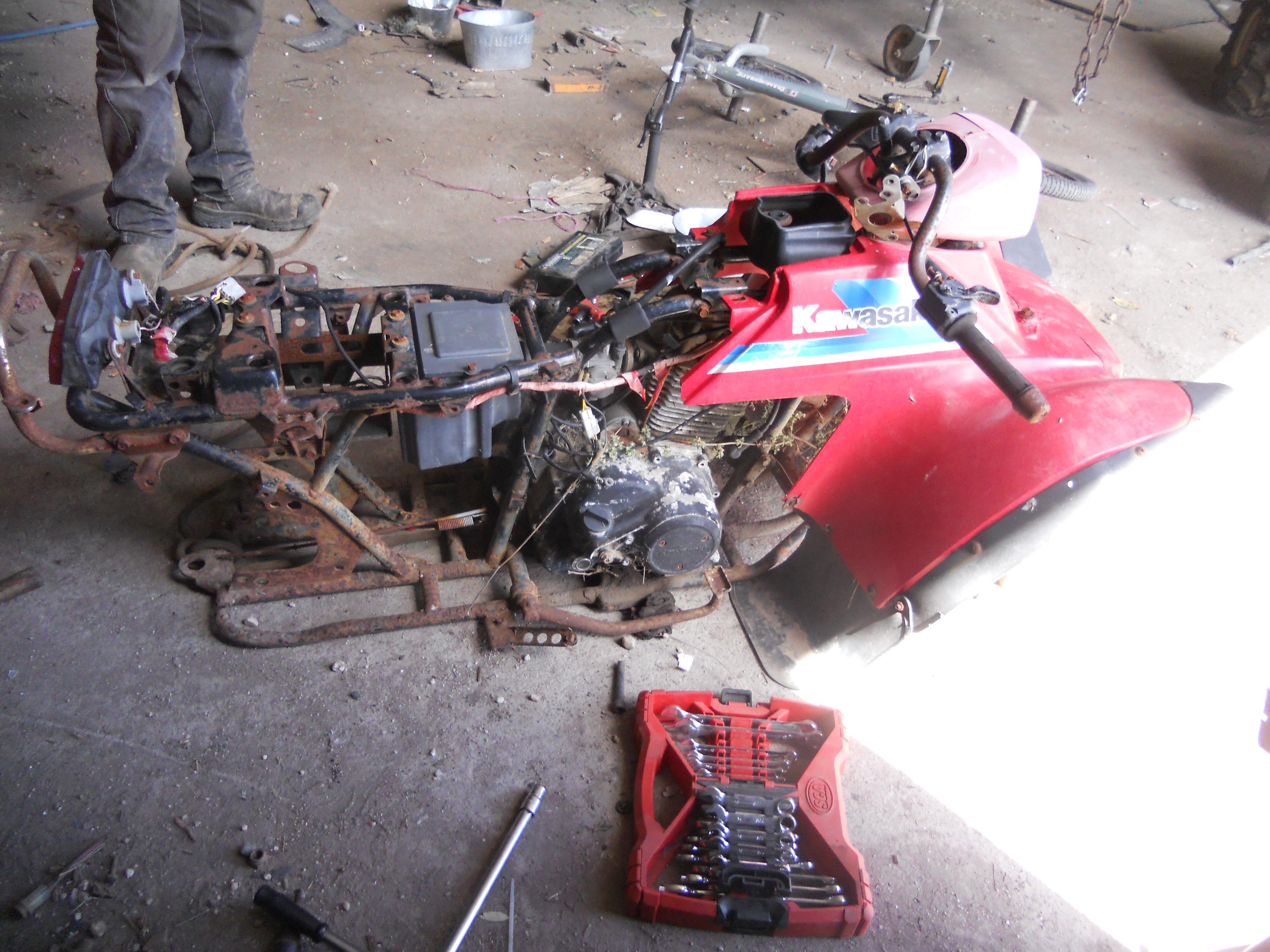 Kawasaki klf 185 build - Honda ATV Forum