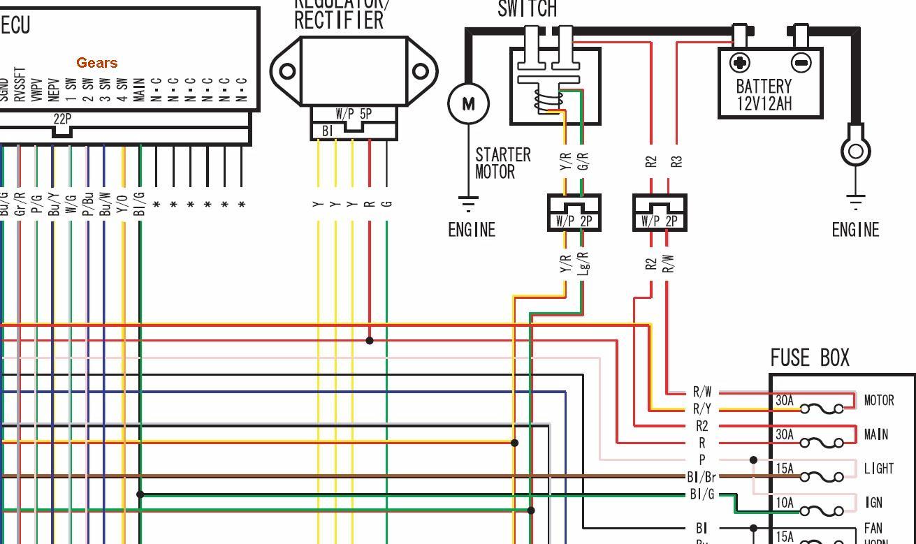 2001 Honda 350 Fourtrax Wiring Diagram - Wiring Diagram