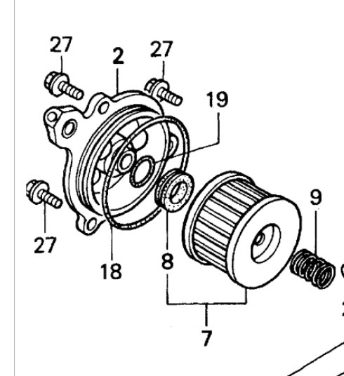 450 foreman oil filter plate leak    please help