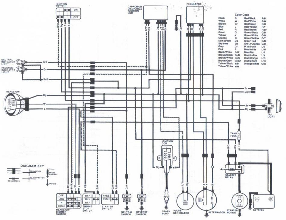 Wiring Schematics For 86 125 Fourtrax, Honda Atv Wiring Diagram