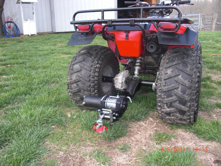 how to take out honda quad rear diff