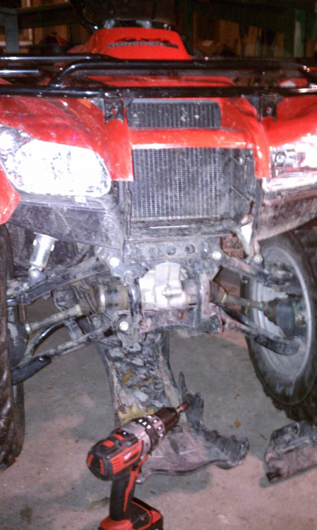 Rancher 420, Warn XT25 winch install - Honda ATV Forum