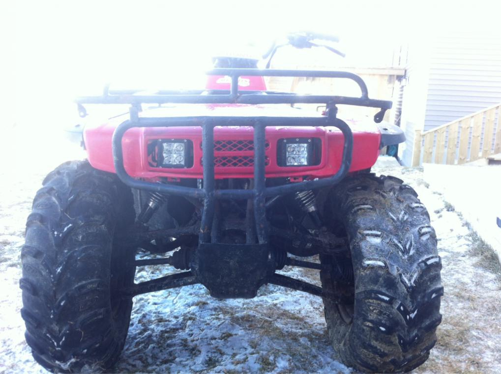 Led Head Lights Hooked To Factory Light Wires Honda Atv Forum