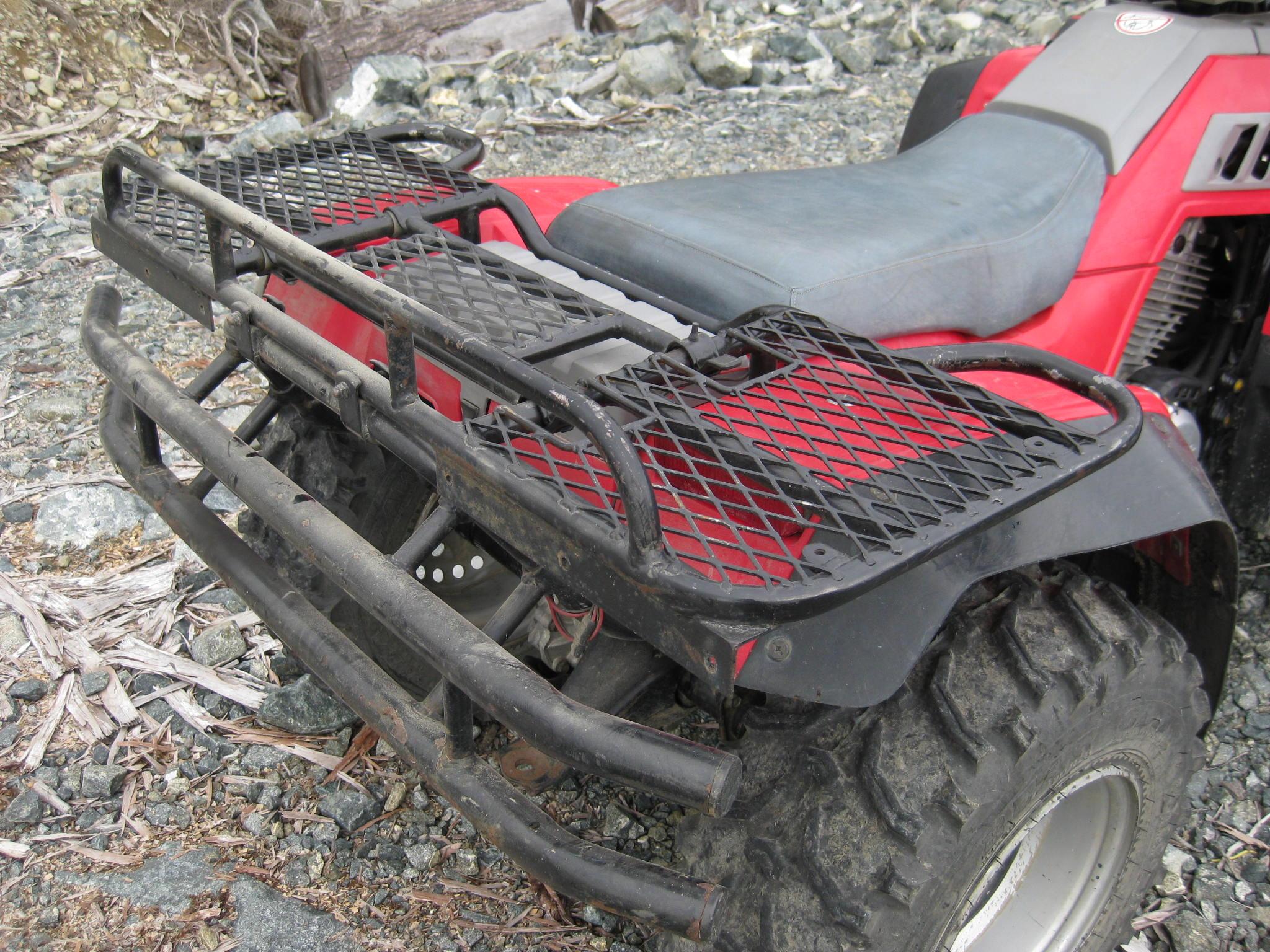 kolpin mesh collapsible ramps rack p basket discount steel flat atv