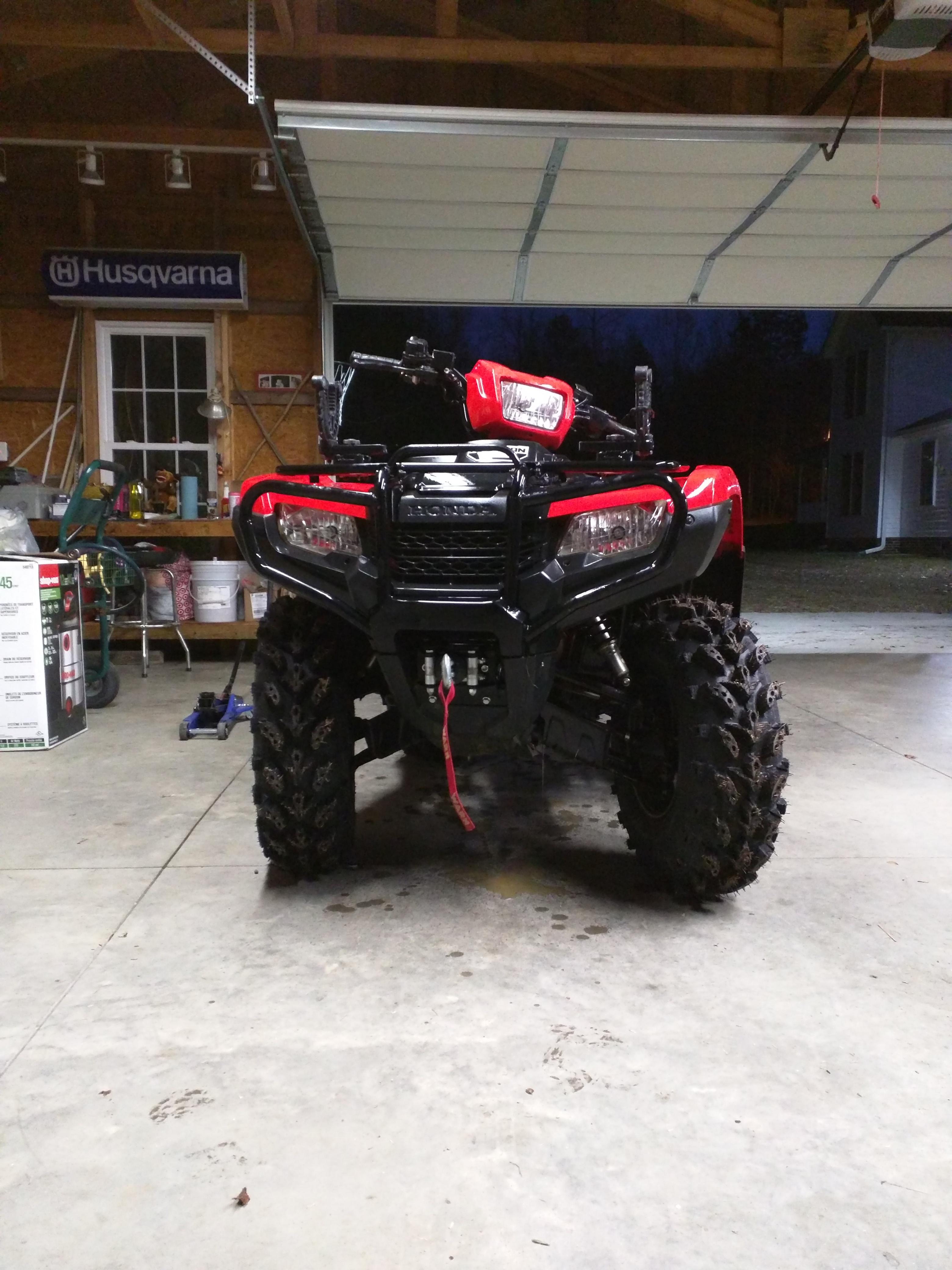 "27"" swamplite tires on 2014 Honda foreman - Honda ATV Forum"