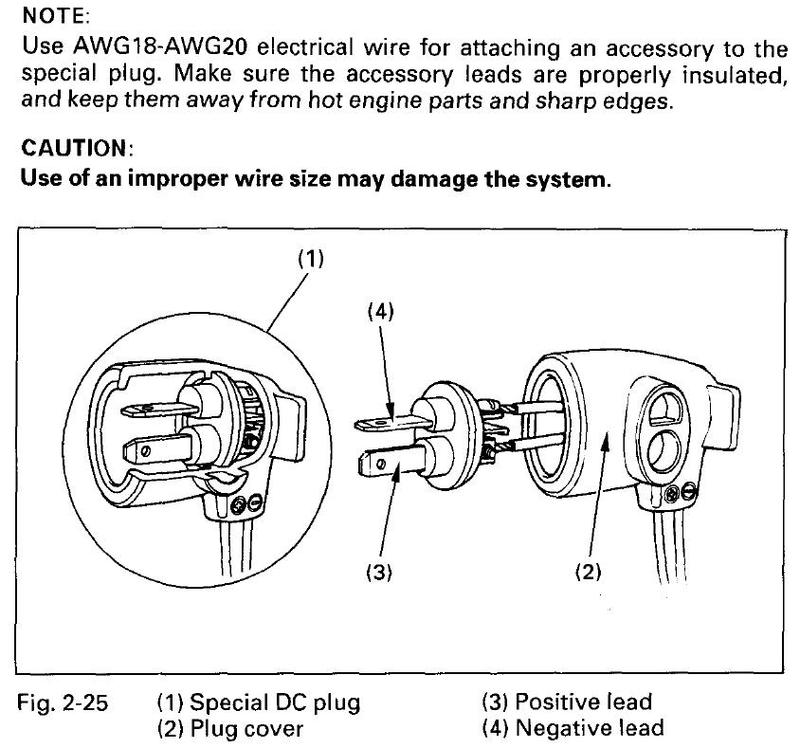 16530d1389316276 honda 300 12 volt plug oldstyle12vdcaccessoryo honda 300 12 volt plug honda atv forum honda atv 300 fourtrax 1989 wiring diagram at edmiracle.co