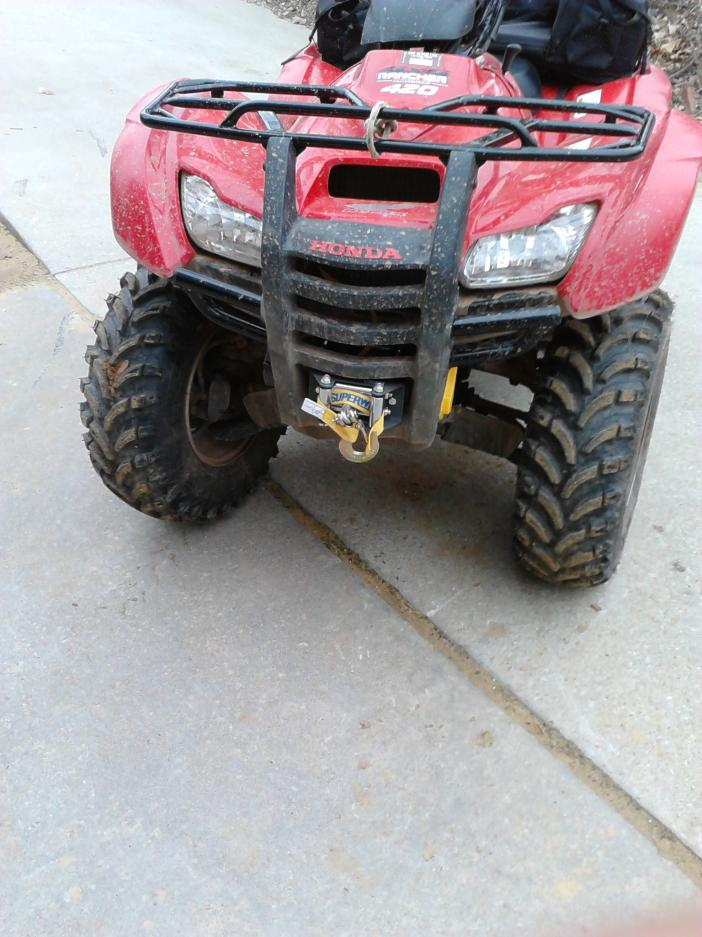 Got Winch Installed On Rancher 420 Honda Atv Forum