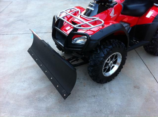 Snow Plow Installation Complete With Pics Honda Atv Forum