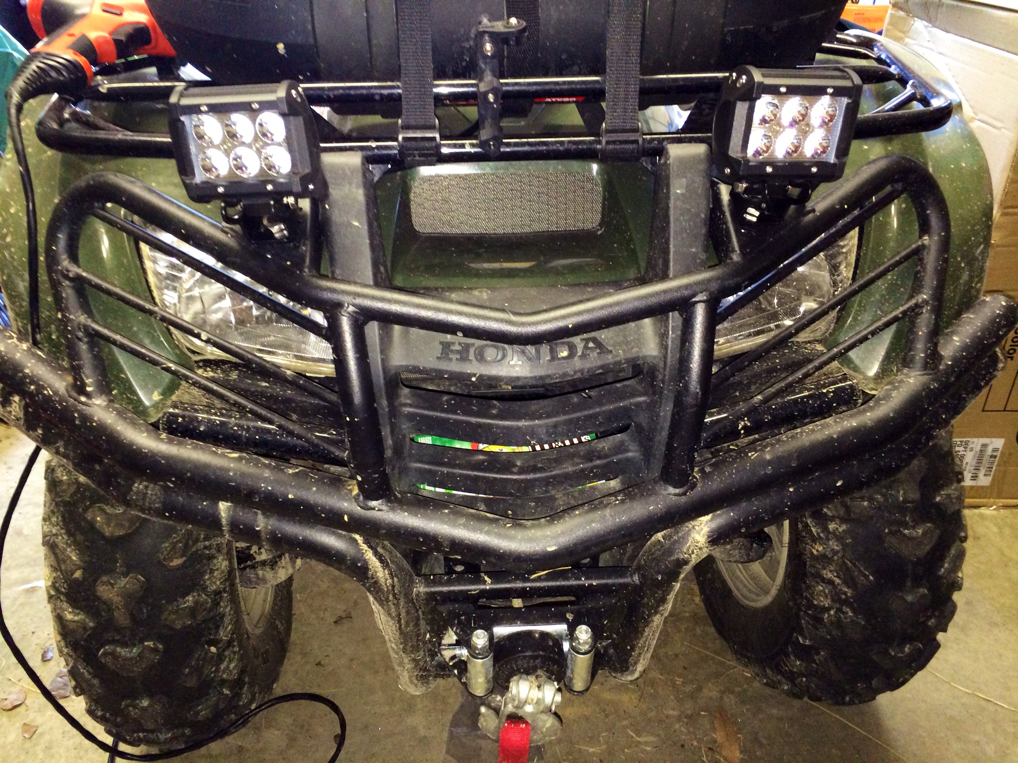 Front led lights for atvs wiring library vanesa led lights how to honda atv forum rh hondaatvforums net led light bar polaris led light aloadofball Image collections