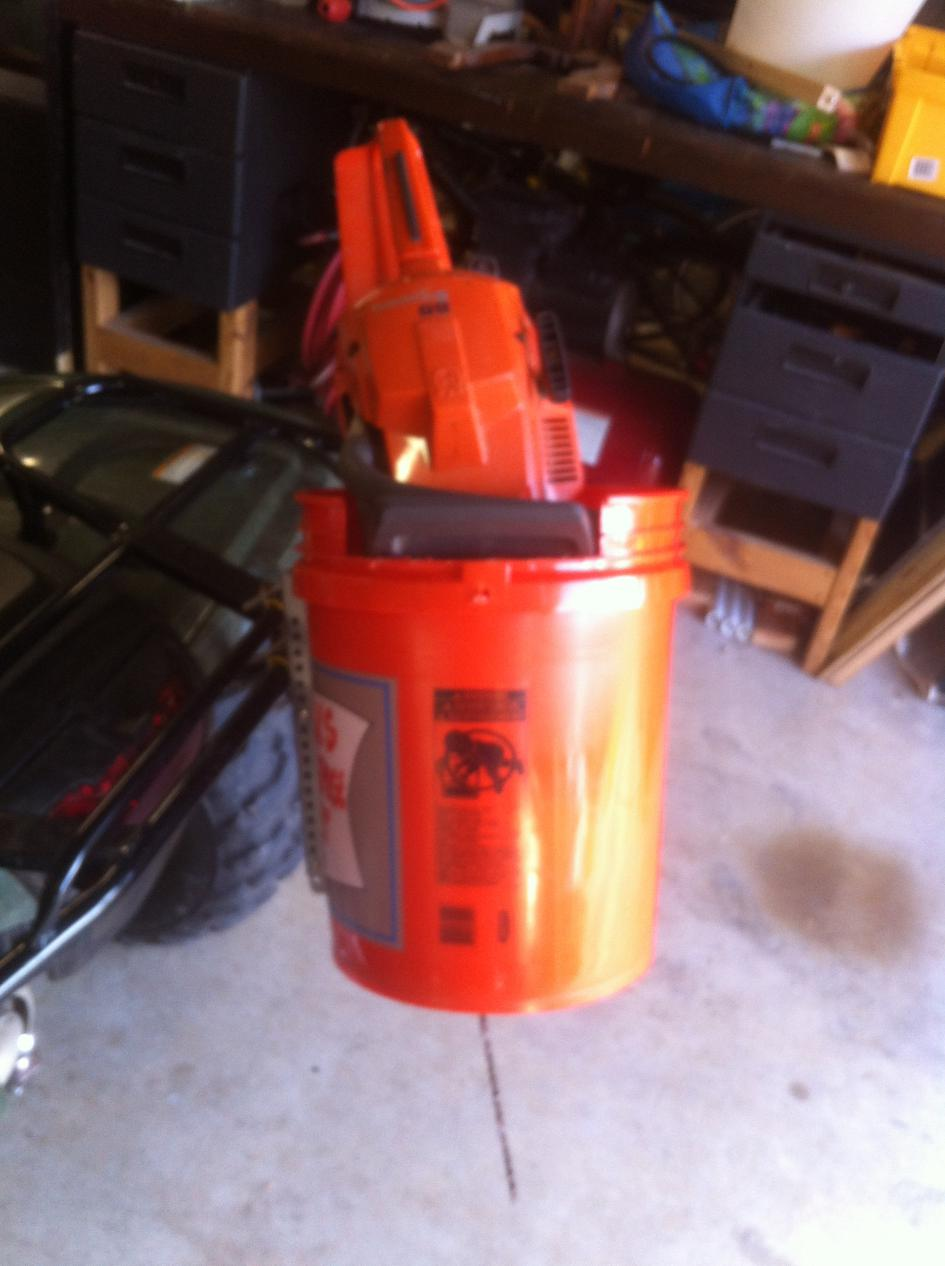 Chainsaw carrier for about $5 - Honda ATV Forum
