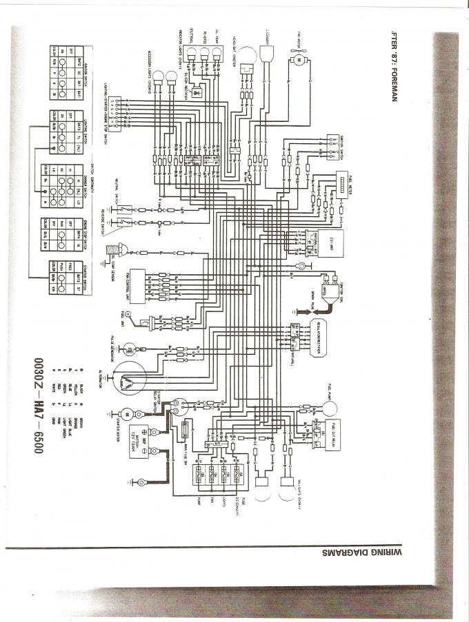 Wiring Diagram For A Honda Trx 250 4 Wheeler Database
