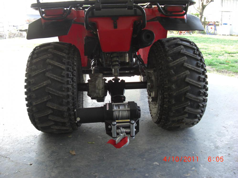 Rear Atv Winch Bracket Honda Atv Forum