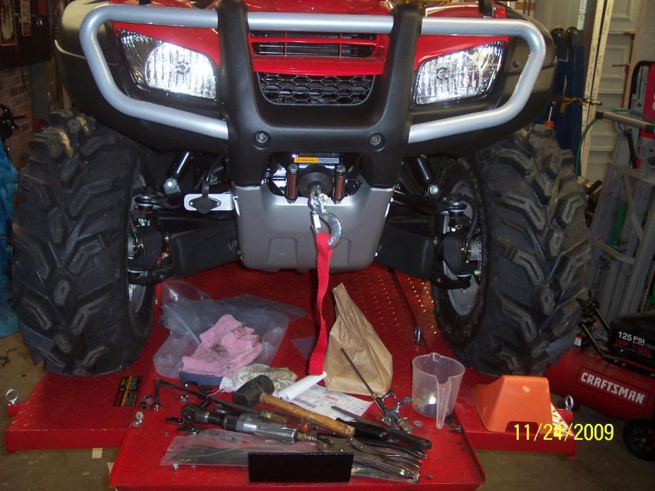 Installing a Winch. Where to put plug? - Honda ATV Forum