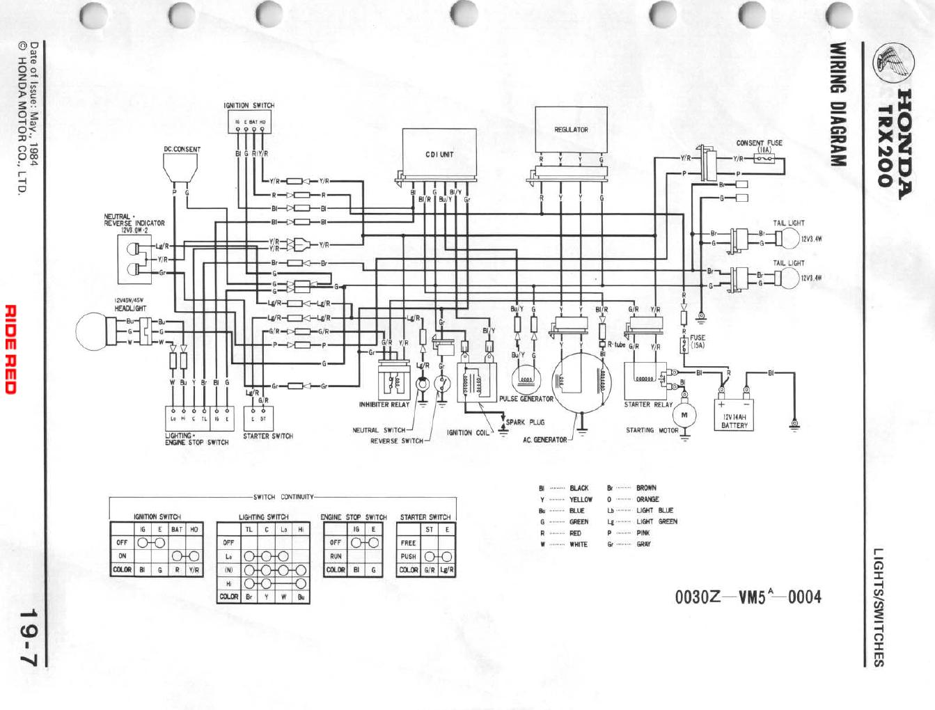 Wiring Diagram For Honda Recon E